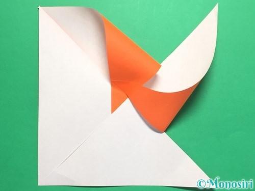 折り紙でクルクル回る風車の作り方手順7