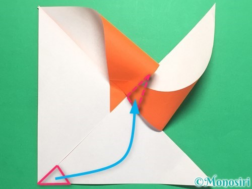 折り紙でクルクル回る風車の作り方手順8