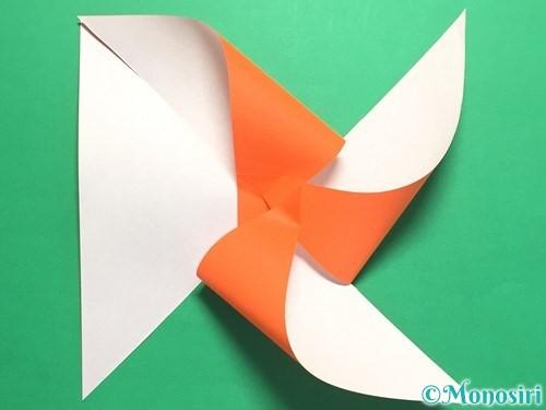折り紙でクルクル回る風車の作り方手順9