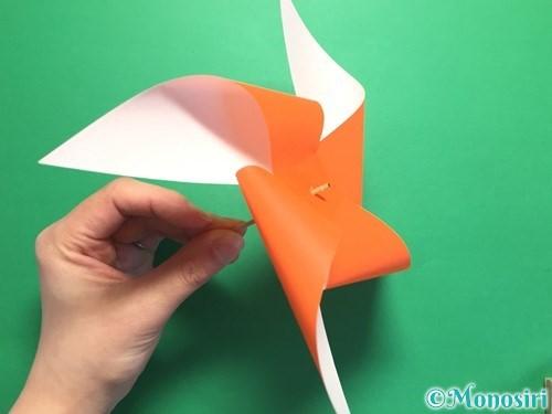 折り紙でクルクル回る風車の作り方手順14