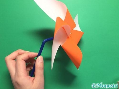 折り紙でクルクル回る風車の作り方手順16