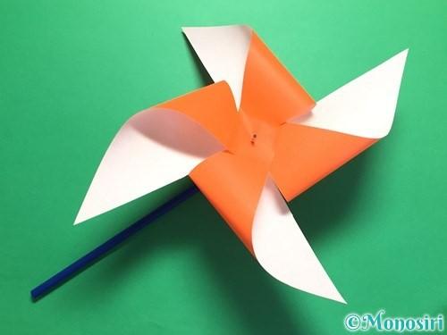 折り紙でクルクル回る風車の作り方手順17