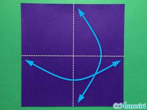 折り紙で菖蒲の折り方手順1
