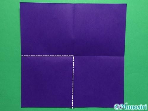 折り紙で菖蒲の折り方手順3