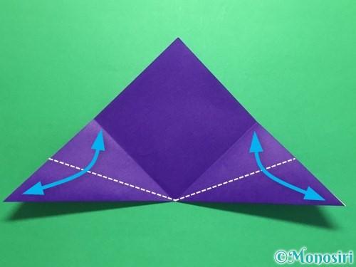折り紙で菖蒲の折り方手順9