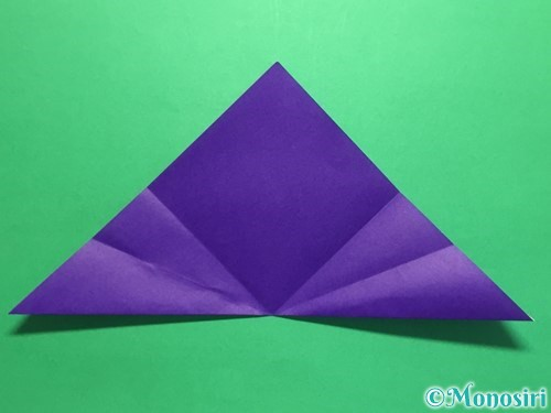 折り紙で菖蒲の折り方手順10