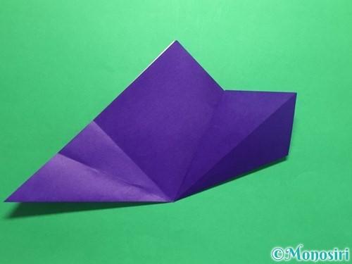 折り紙で菖蒲の折り方手順13