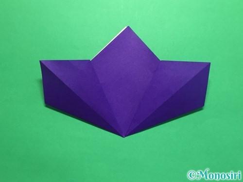 折り紙で菖蒲の折り方手順14