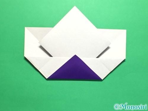 折り紙で菖蒲の折り方手順19