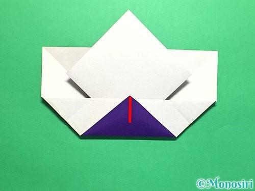 折り紙で菖蒲の折り方手順20