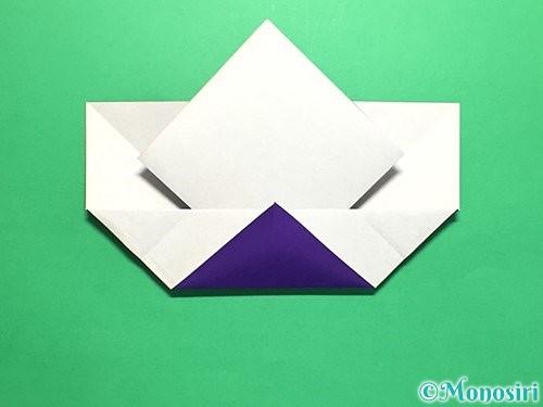 折り紙で菖蒲の折り方手順21