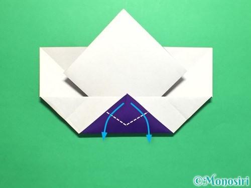 折り紙で菖蒲の折り方手順22