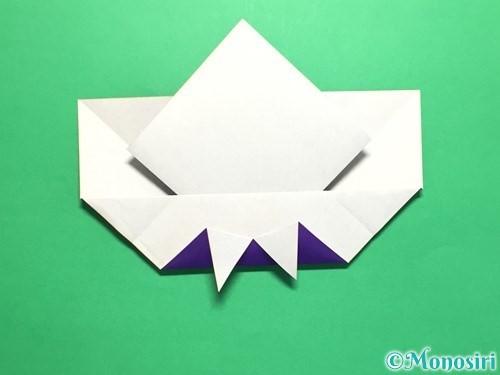 折り紙で菖蒲の折り方手順23
