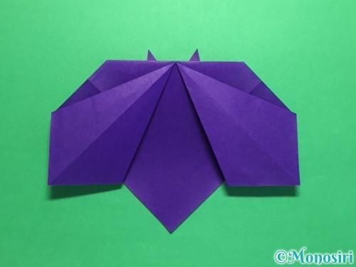 折り紙で菖蒲の折り方手順24