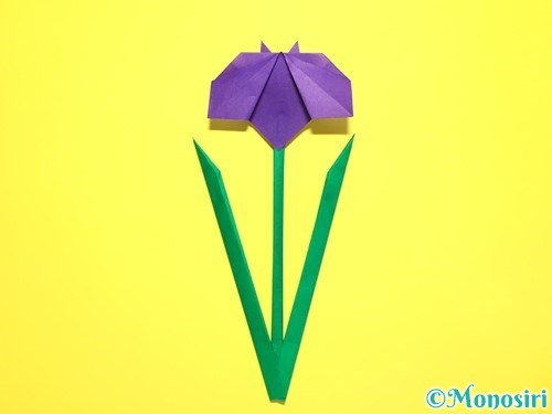 折り紙で菖蒲の折り方手順48