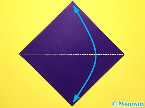 折り紙で立体的な百合の花の折り方手順1