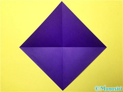 折り紙で立体的な菖蒲の折り方手順2