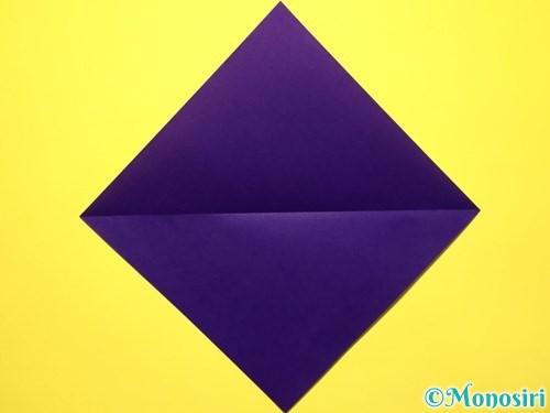 折り紙で立体的な百合の花の折り方手順2