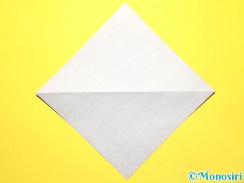 折り紙で立体的な百合の花の折り方手順3
