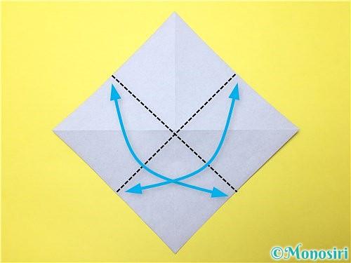 折り紙で立体的な菖蒲の折り方手順4