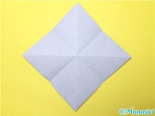 折り紙で立体的な菖蒲の折り方手順5