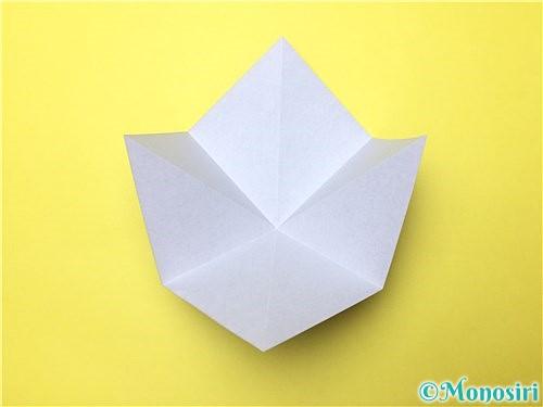 折り紙で立体的な菖蒲の折り方手順6