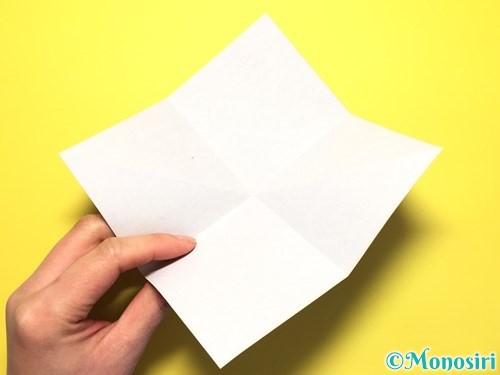折り紙で立体的な百合の花の折り方手順6