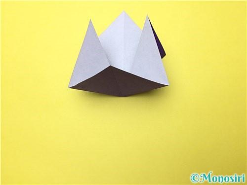 折り紙で立体的な菖蒲の折り方手順7