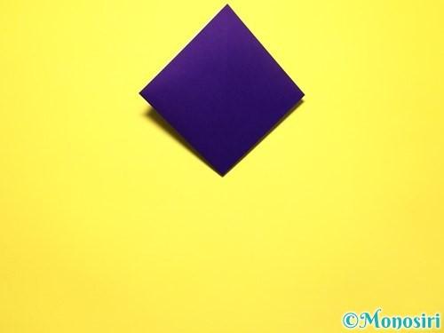 折り紙で立体的な百合の花の折り方手順8