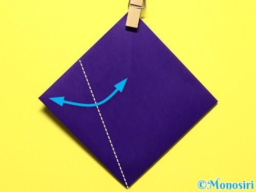折り紙で立体的な百合の花の折り方手順9