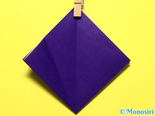 折り紙で立体的な百合の花の折り方手順10