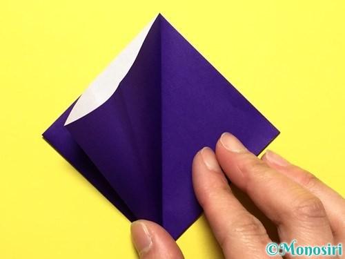 折り紙で立体的な百合の花の折り方手順11