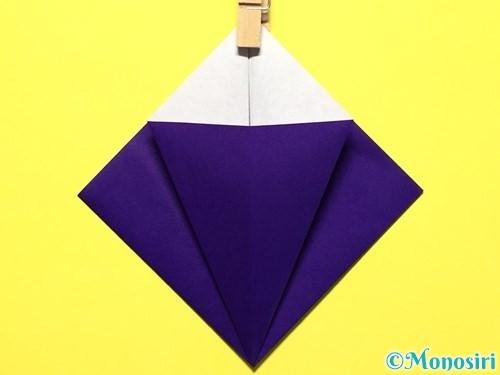 折り紙で立体的な百合の花の折り方手順13