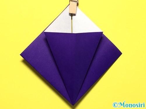 折り紙で立体的な百合の花の折り方手順14