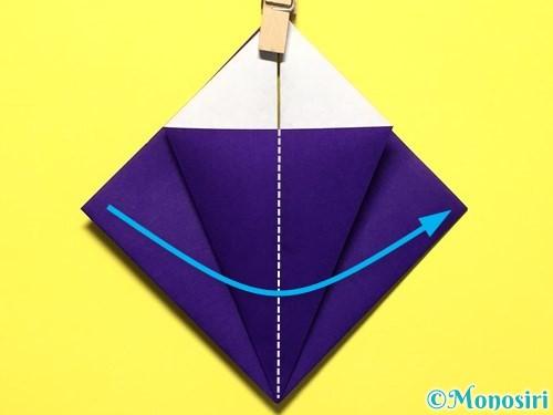 折り紙で立体的な百合の花の折り方手順15