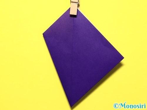 折り紙で立体的な百合の花の折り方手順16