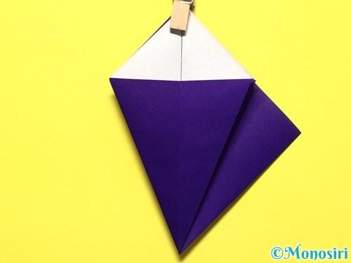 折り紙で立体的な百合の花の折り方手順17
