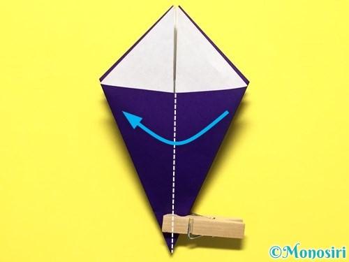 折り紙で立体的な百合の花の折り方手順19