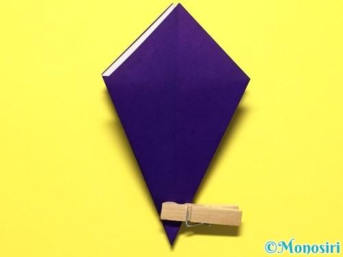 折り紙で立体的な百合の花の折り方手順20
