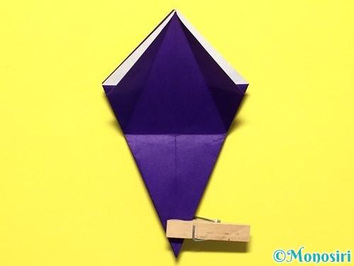 折り紙で立体的な百合の花の折り方手順22