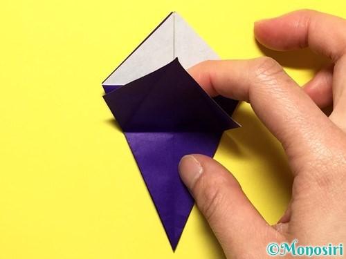 折り紙で立体的な百合の花の折り方手順23