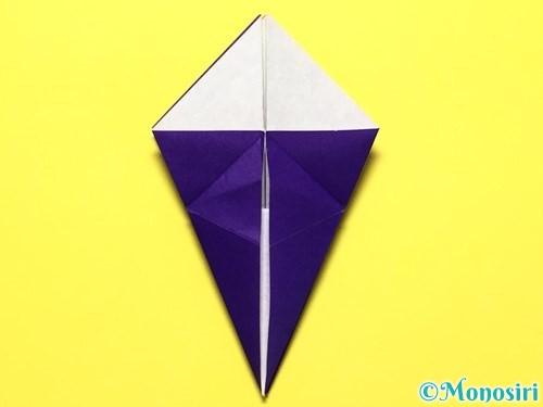折り紙で立体的な百合の花の折り方手順26