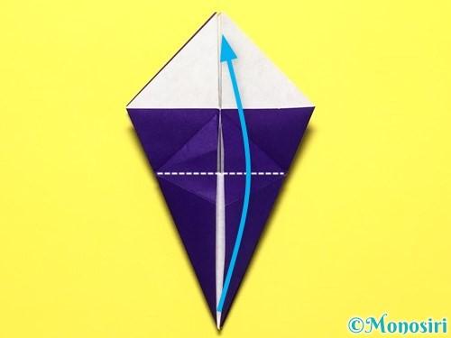 折り紙で立体的な百合の花の折り方手順27