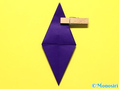 折り紙で立体的な百合の花の折り方手順29
