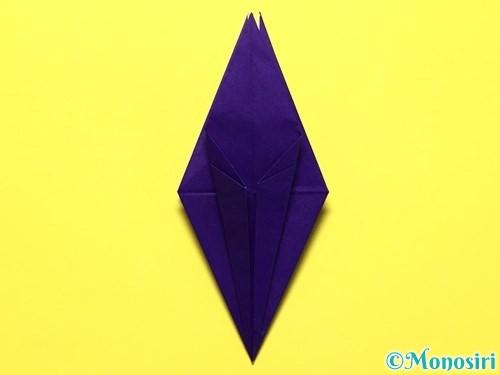 折り紙で立体的な百合の花の折り方手順31