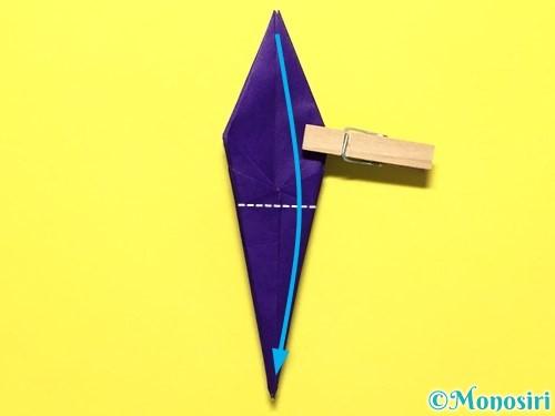 折り紙で立体的な百合の花の折り方手順33