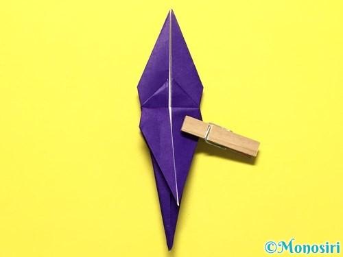 折り紙で立体的な百合の花の折り方手順34