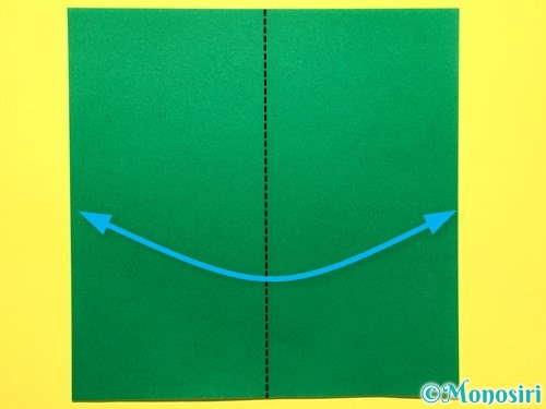 折り紙で立体的な百合の花の折り方手順41
