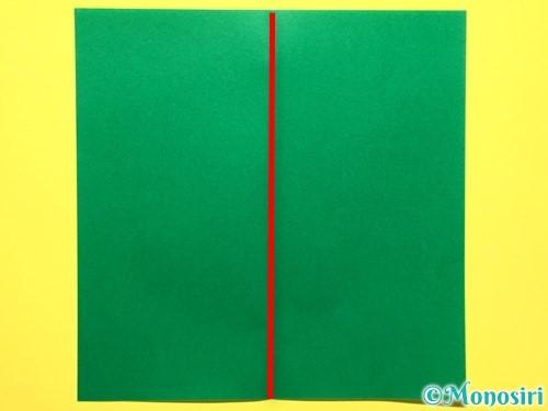 折り紙で立体的な百合の花の折り方手順43