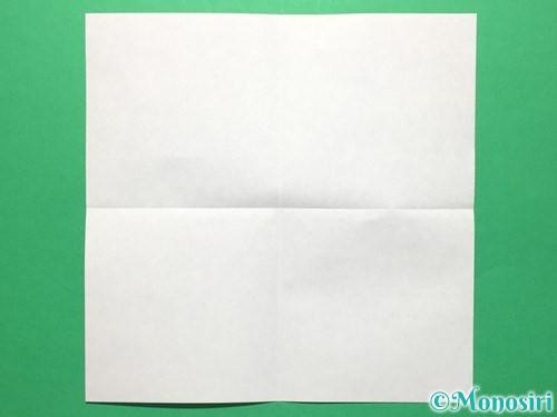 折り紙で盾の折り方手順2